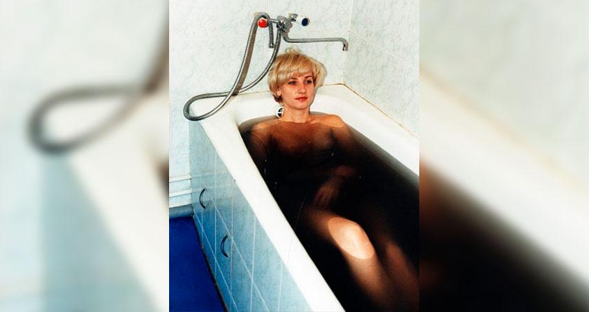 Процедура купания в пантовых ваннах